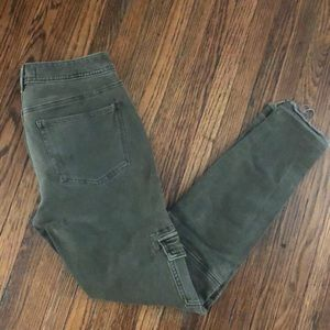 Army Green Free People Jeans